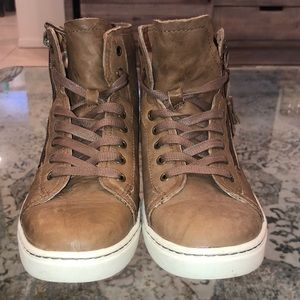 High top Ugg leather sneakers